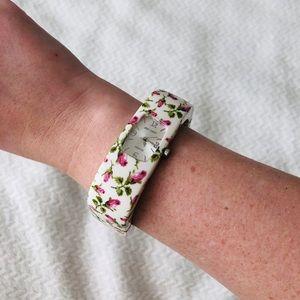 Betsey Johnson rosebud bangle watch